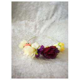 Colourful flower headband