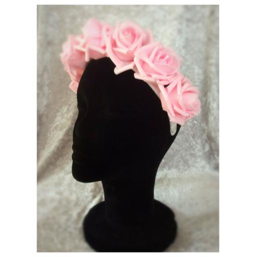 Rose head garland